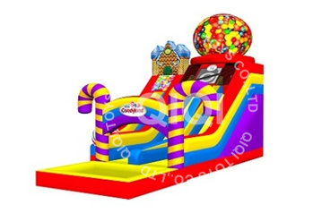 candy playland inflatable water slide